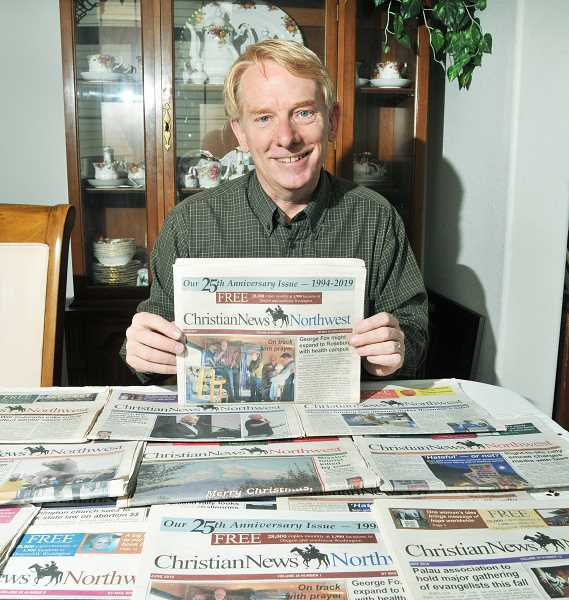 PMG FILE PHOTO - Christian News Northwest publisher John Fortmeyer began printing the regional publication after a three-month absence due to the pandemic.