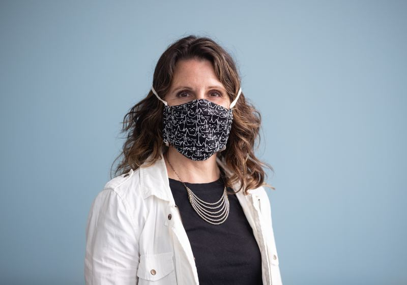 MULTNOMAH COUNTY PHOTO: MOTOYA NAKAMURA - Multnomah County Chair Deborah Kafoury is pictured here wearing a facemask for protection against COVID-19.