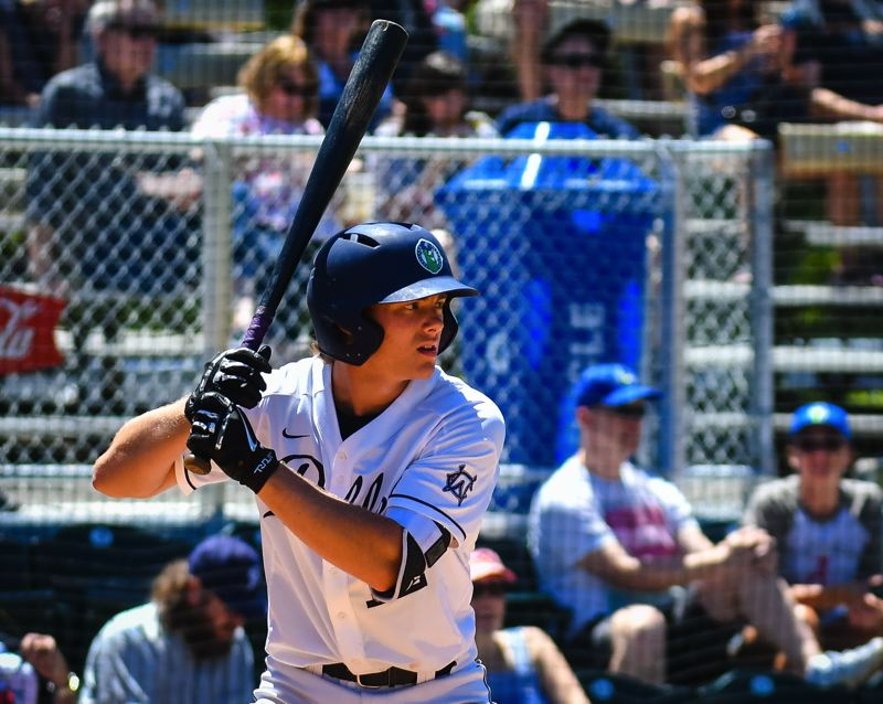 COURTESY PHOTO: PORTLAND PICKLES - Portland native Gabe Skoro, pictured during a 2019 Portland Pickles game, is excited about playing for the Pickles again this summer.
