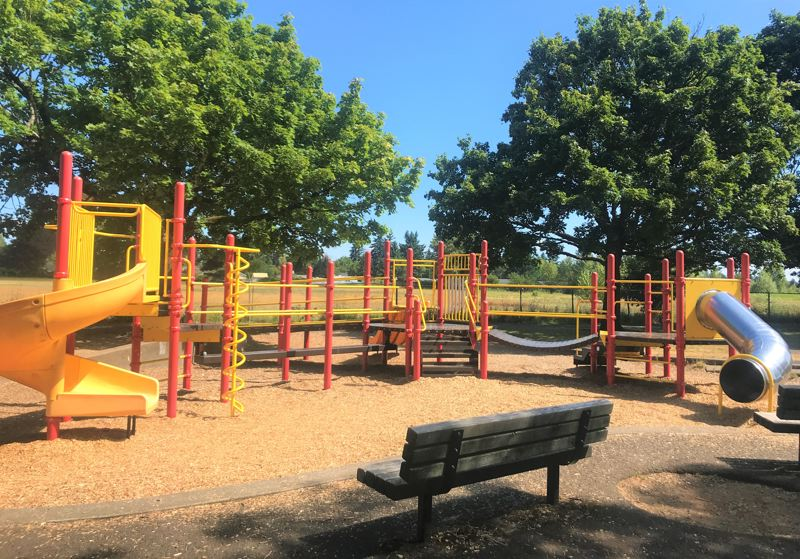 COURTESY PHOTO: PORTLAND PARKS & RECREATION - The playground at Parklane Park is well-used by neighborhood kids.