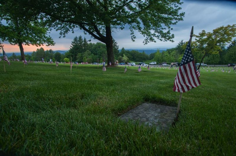 PMG FILE PHOTO - Oregon's Historic Cemeteries Commission is considering a position paper opposing displays of the Confederate flag in cemeteries. Instead, the commission encourages cemeteries to only display the U.S. flag on Memorial Day and other events.