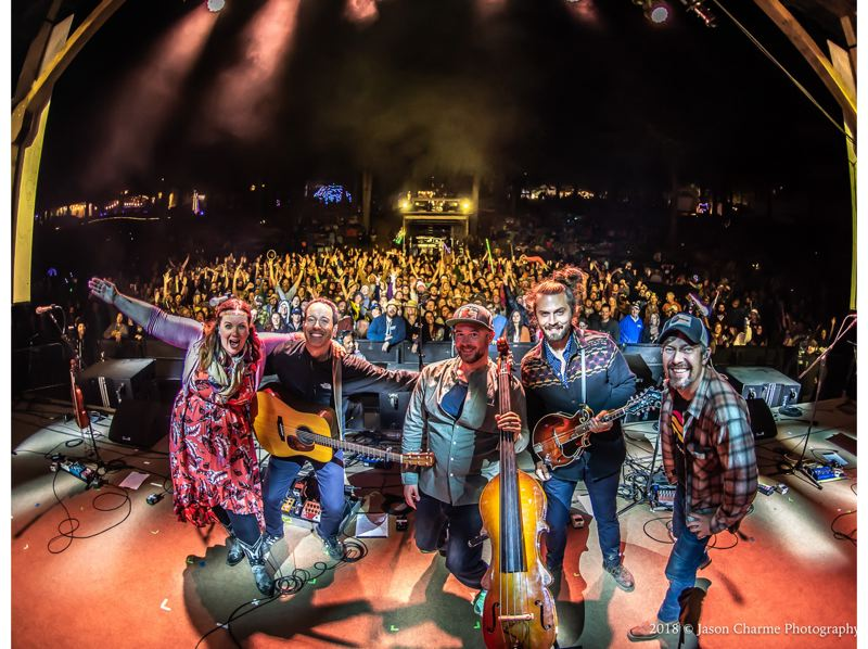 COURTESY PHOTO: JASON CHARME PHOTOGRAPHY - Yonder Mountain String Band, which includes bass player Ben Kaufmann (middle), will highlight the online Northwest String Summit, July 17-19.