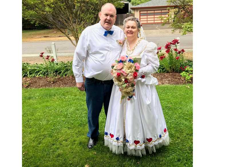 COURTESY PHOTO - Donald Fowler and Tina Sanders Fowler of Oregon City were married June 13, 2021.