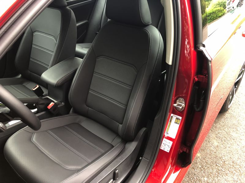 PMG PHOTO: JEFF ZURSCHMEIDE - Inside, the 2020 VW Passat is spacious and comfortable. The driver and front passenger seats are supportive and firm without being hard.
