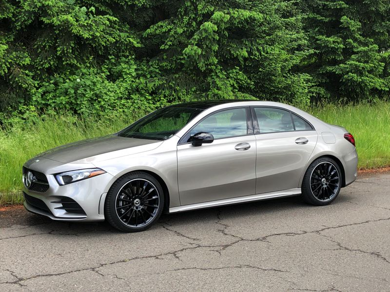 PMG PHOTO: JEFF ZURSCHMEIDE - The 2020 Mercedes-Benz A220 is a sleek subcompact sedan that lives up to all the high standards set by the German manufacturer. The standard turbocharged 2.0-liter engine produces a healthy 188 horsepower and all-wheel-drive is an option.