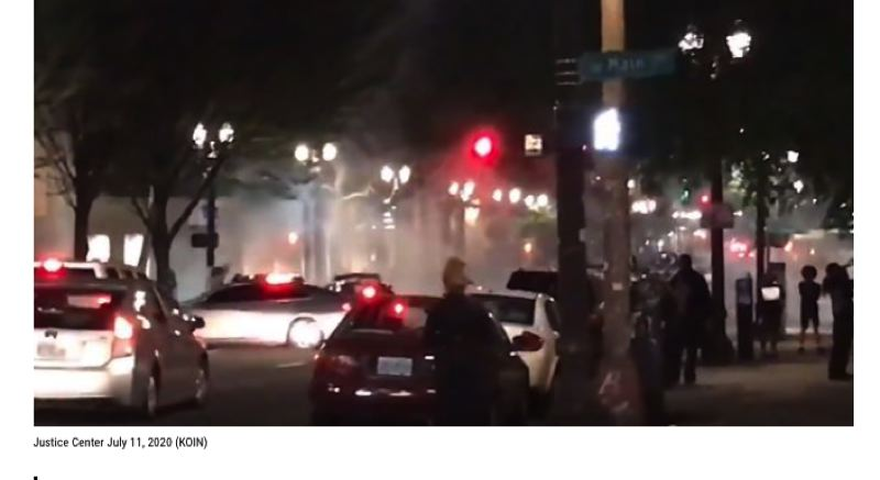 KOIN 6 NEWS - Recent protests in downtown Portland.