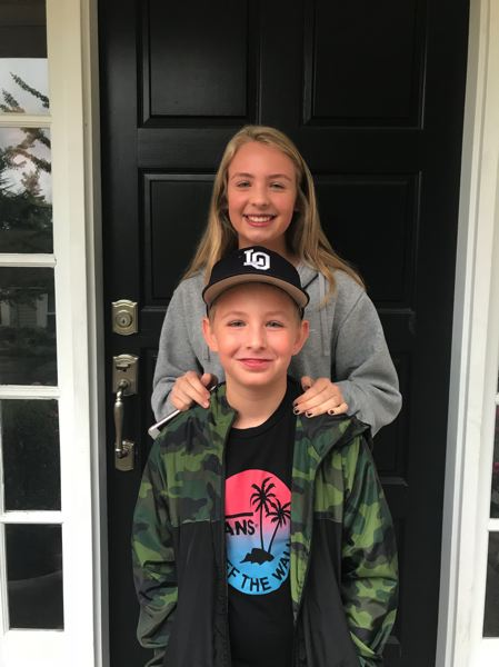 COURTESY PHOTO: APRIL FREDRICKSON - Sofie and Quinn Olsen were students in the Lake Oswego School District.