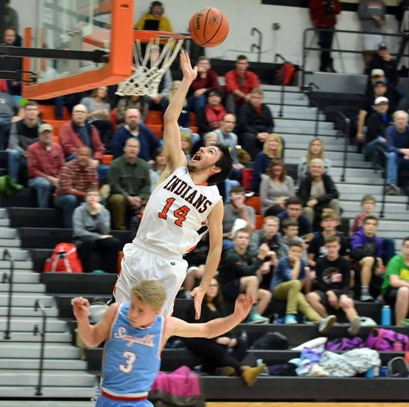 COURTESY PHOTO: BENDLE FAMILY - Chris Bendle was at his best as a Scappoose senior in 2017-18, averaging 23.5 points and 10.5 rebounds per game as a 6-foot guard for the Indians.