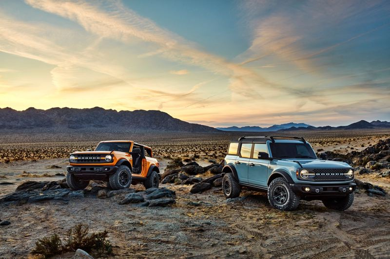 COURTESY FORD - The all-new Ford Bronco will be available as a two- or four-door, with a choice of two engines and two four-wheel-drive systems.