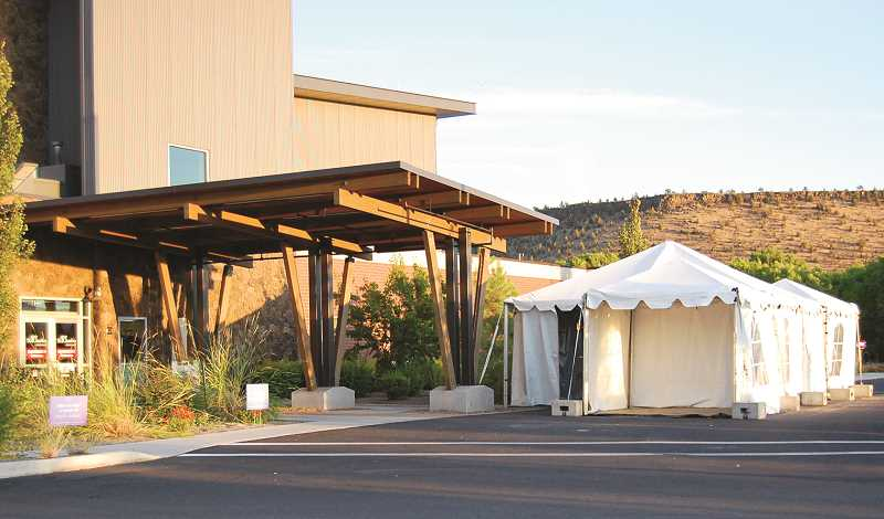 RAMONA MCCALLISTER - St. Charles Prineville checks all patients for COVID-19 symptoms and has a tent available to treat those who may have contracted the illness.