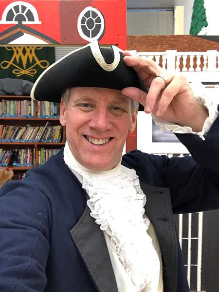 COURTESY PHOTO - Meadow Park Middle School teacher Mike Lebsock teaches humanities classes in an interactive way. Last month, Lebsock was selected as the 2020 most Outstanding Teacher of American History by the National Society Daughters of the American Revolution.