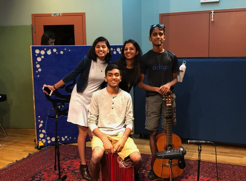 COURTESY PHOTO - Westview High School rising senior Reetesh Sudhakar (front) is a co-founder of Youth Artists Unite.