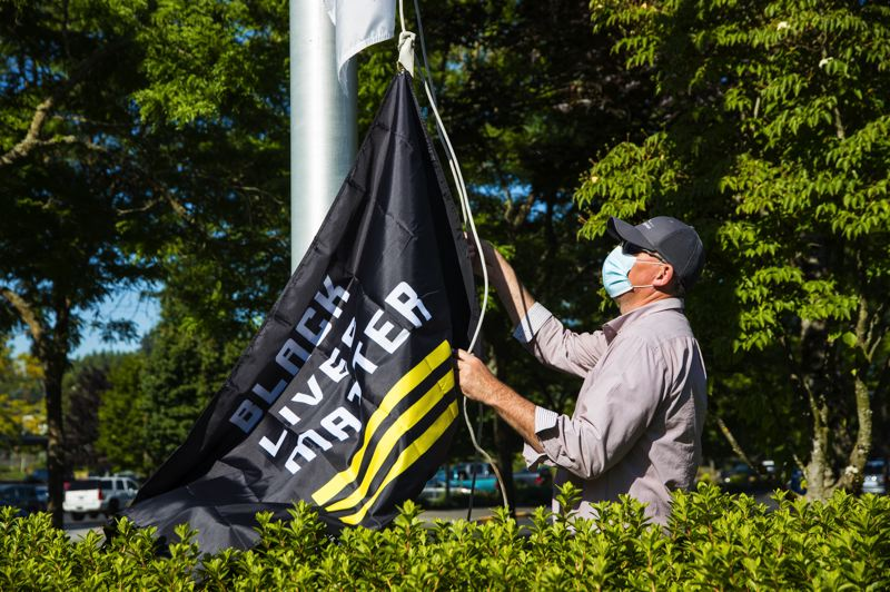 COURTESY PHOTO: CITY OF GRESHAM - Gresham City Council voted to raise a Black Lives Matter flag outside of City Hall through the rest of July.