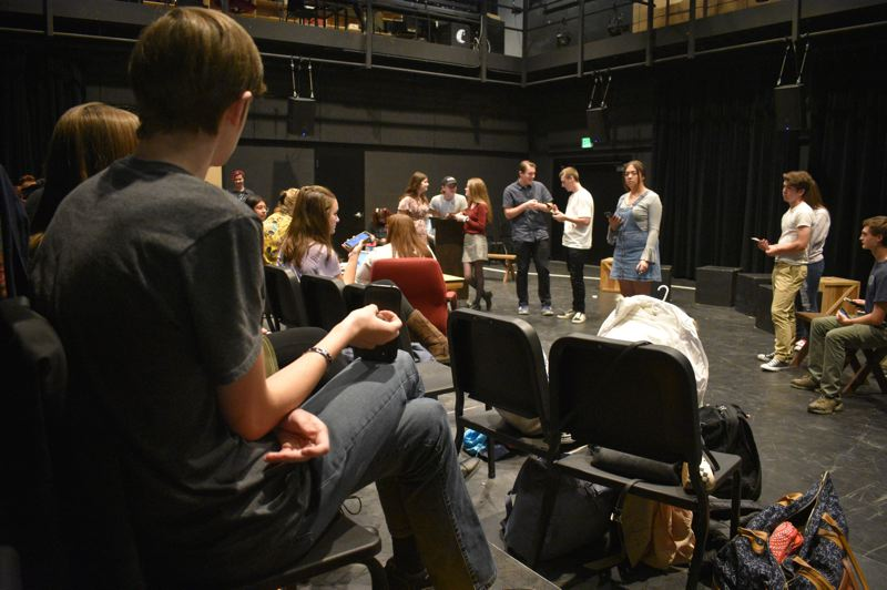 PMG PHOTO: TERESA CARSON - This Gresham High School theater class won't be able to meet like this in the 2020-21 school year due to current social distancing requirements.