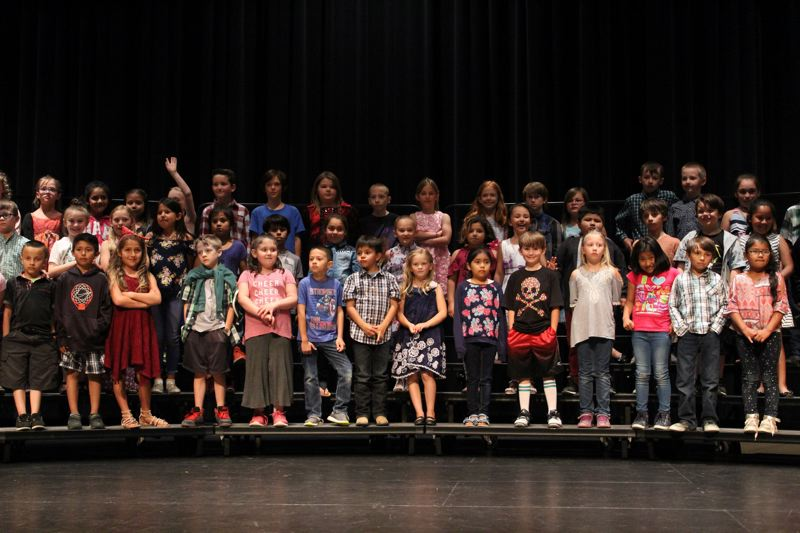 PMG PHOTO: JENNIFFER GRANT - Madras Elementary students give a concert in 2018. While the state budget is in freefall, the Oregon Legisalature's budget-writers hope to spare public schools much of the impact.