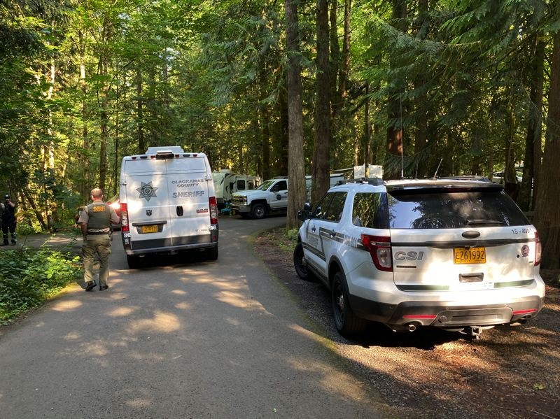 COURTESY PHOTO: CLACKAMAS COUNTY SHERIFFS OFFICE - On July 3, Clackamas County Sheriffs deputies were dispatched to the RV Park on a report of a suicidal man who was armed, later identified as Doug Diamond, 58, of Tualatin.