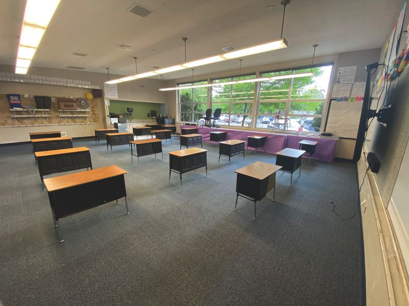 COURTESY PHOTO: LOSD - An example of what elementary classrooms will look like this fall.