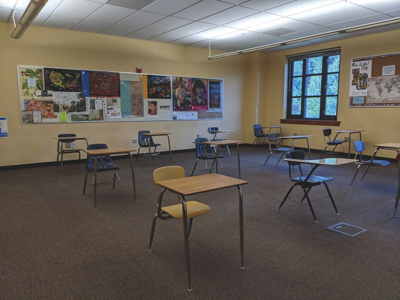 COURTESY PHOTO: LOSD - An example of what secondary classrooms will look like this fall.