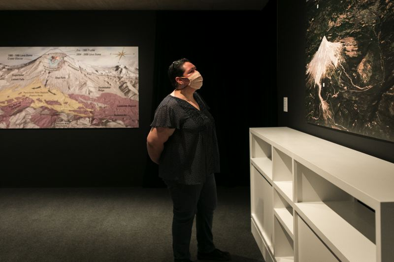 PAMPLIN MEDIA GROUP: JAIME VALDEZ - Felicia Muriel was on her second trip to the museum after moving her from California in 2019. The Mount Saint Helens exhibit was a big draw.