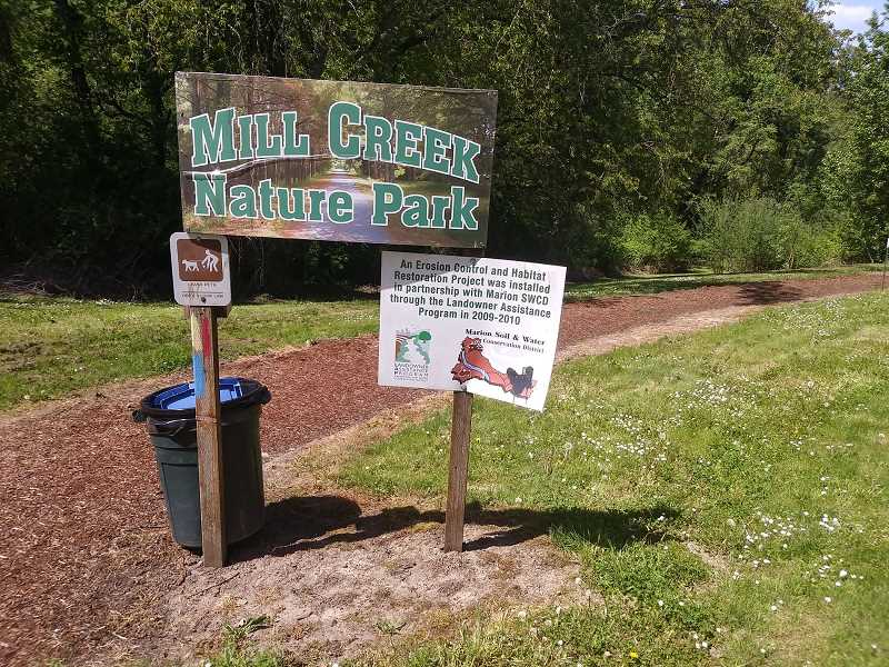 PMG PHOTO: JUSTIN MUCH - Hubbard's Mill Creek Nature Park was renamed to Janice Lafollette Nature Park in honor of one its late advocates., Woodburn Independent - News