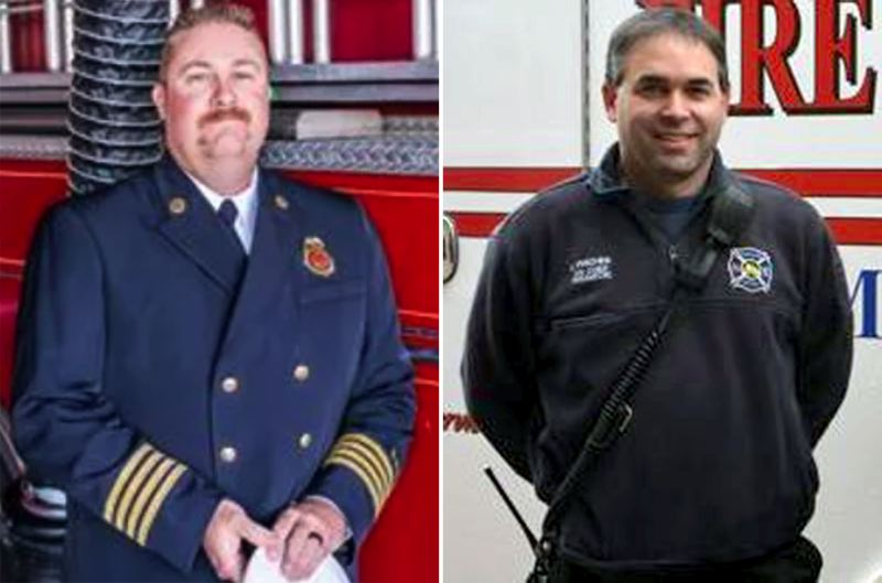 PMG FILE PHOTOS - Eric Smythe (left) has been hired as interim chief for Columbia River Fire & Rescue, while Jeff Pricher will continue as interim chief for Scappoose Rural Fire District.