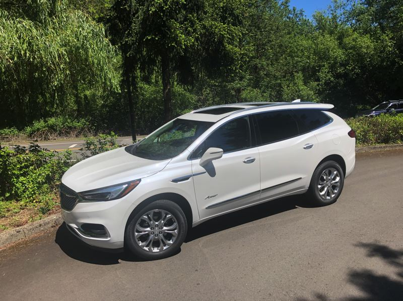 PMG PHOTO: JEFF ZURSCHMEIDE - The 2020 Buick Enclave Avenir is a stylish three-row crossover SUV that rivals more expensive luxury vehicles.