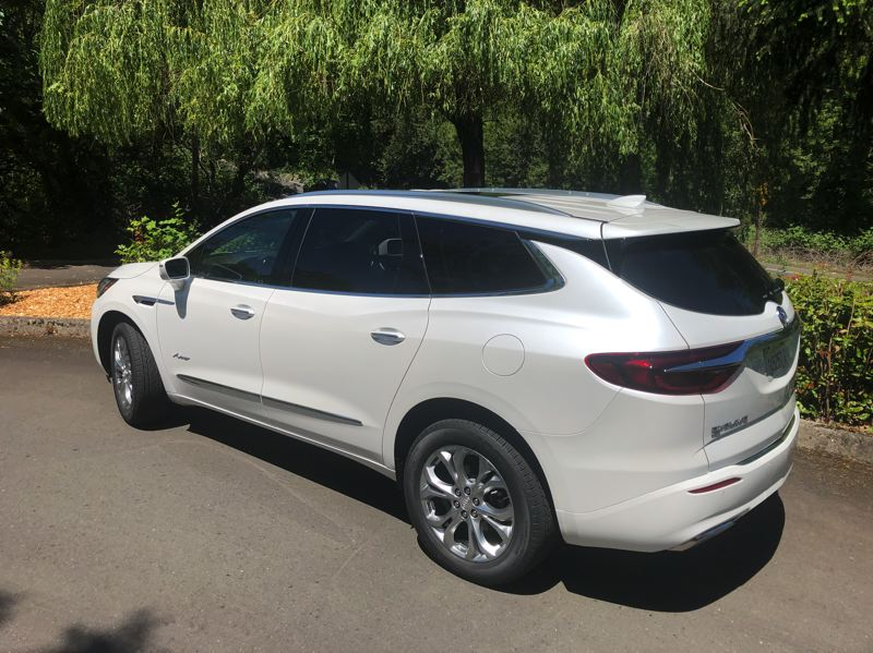 PMG PHOTO: JEFF ZURSCHMEIDE - Properly equipped, the 2020 Buick Enclave Avenir can tow up to 4,500 pounds while maintaining its comfortable ride.