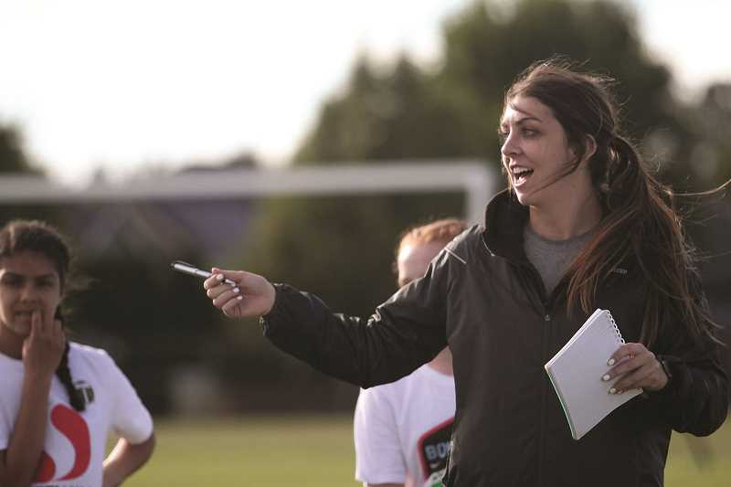 PMG FILE PHOTO: PHIL HAWKINS - Woodburn girls soccer head coach Andrea Whiteman said she'll continue to hold practice remotely until she feels that it is safe to return to in-person practices.
