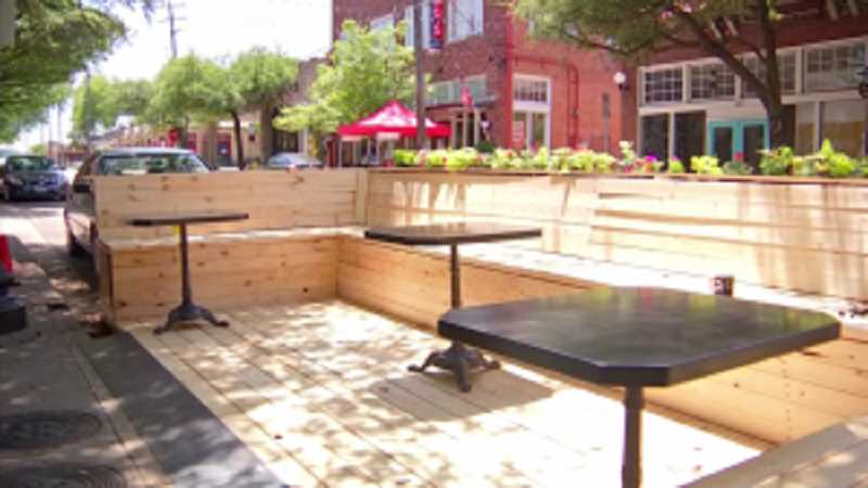 COURTESY PHOTO - Oregon City provided this image as an example of the type of parklet city officials are trying to encourage outside of restaurants for outdoor seating.