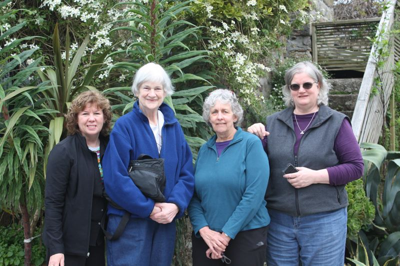COURTESY PHOTO: JAN RIMERMAN - From left to right: Jan Rimerman, Joan Sappington, Sally Hedman and Carrie O'Bryan during their trip to England.
