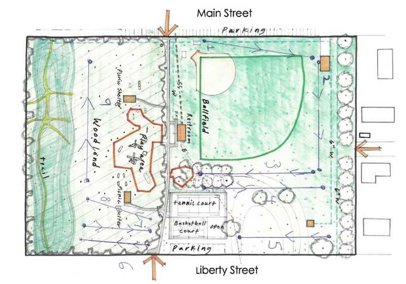 CITY OF AURORA - Mockup of how the city of Aurora may layout its disc-golf course.