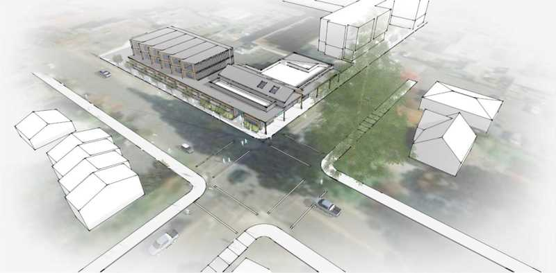 COURTESY PHOTO - A preliminary rendering of the proposed project on the B Site at Pacifc Avenue and B Street.