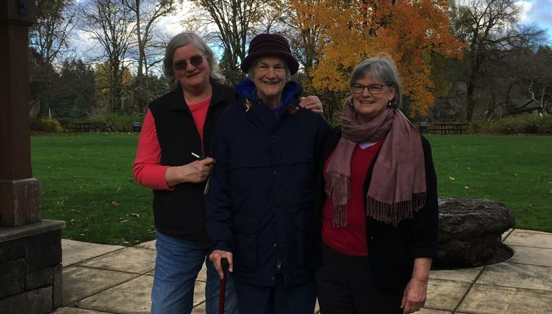 COURTESY PHOTO - Carrie O'Bryan, Joan Sappington, and Chris O'Bryan at George Rogers Park.