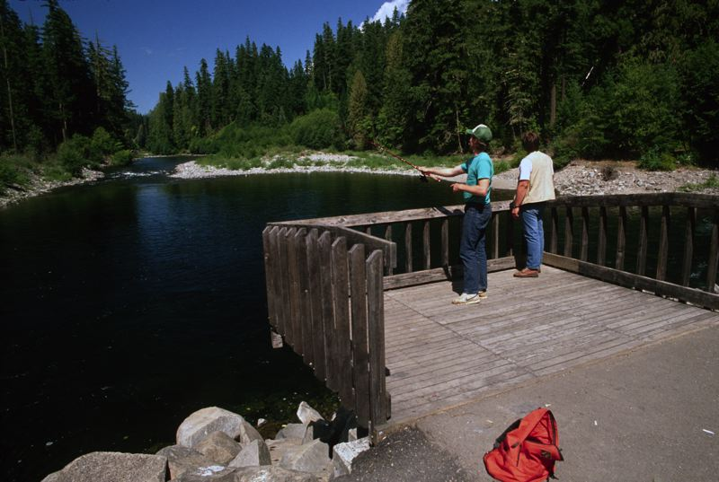 COURTESY PHOTO: U.S. FOREST SERVICE - PACIFIC NORTHWEST REGION - Fishing is a popular pastime on the Clackamas River.