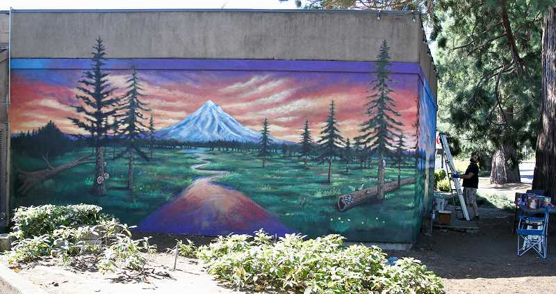 COURTESY PHOTO - Joe Riso's mural will be visible from both Southeast McLoughlin Boulevard and Main Street in Milwaukie.
