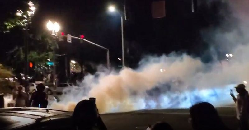 KOIN 6 NEWS - Tear gas being used in downtown Portland.