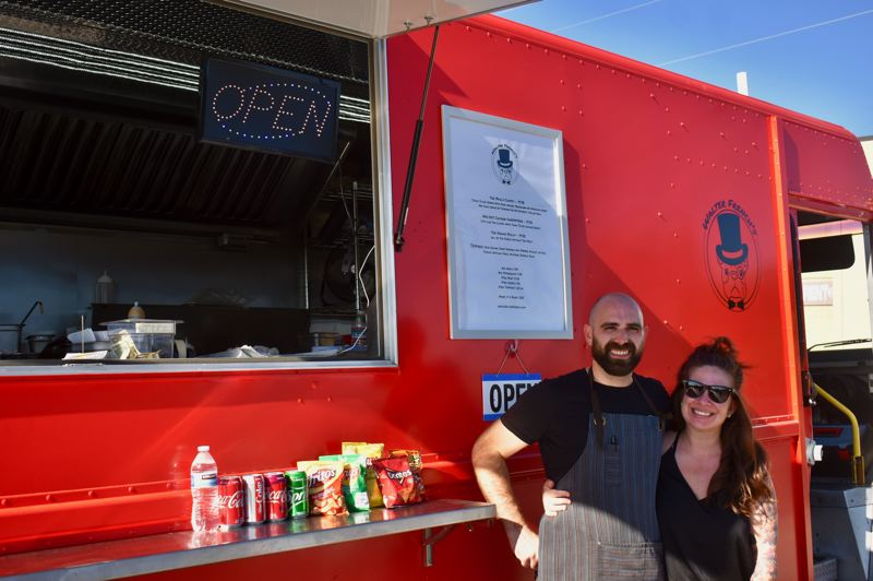 PMG PHOTO: EMILY LINDSTRAND - Matt Lewis and Ali Limon are the team behind Walter French's, a new food truck in Estacada.