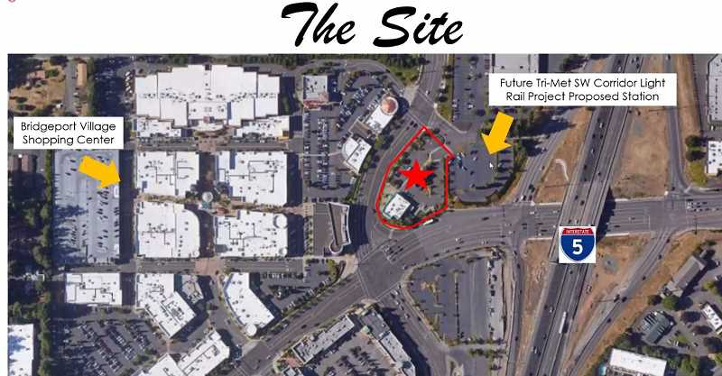 COURTESY IN-N-OUT BURGER - Here's a footprint of how the proposed Tualatin In-N-Out Burger would be situated, across the street from McCormick & Schmick's Seafood Restaurant in Bridgeport Village.