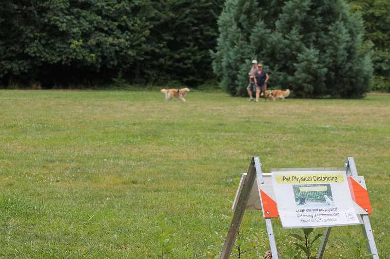 PMG PHOTO: HOLLY BARTHOLOMEW - Under COVID-19 restrictions, West Linn dog parks, trails, natural areas and other park facilities are open while other are closed.