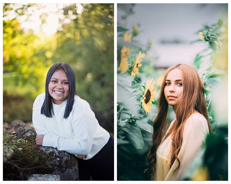 COURTESY PHOTOS: MRSD - Molalla High School 2020 graduates Emilie Mendoza (left) and Karina Shvachka have been awarded the Ford Family Foundation scholarship that covers 90% of unmet college expenses.