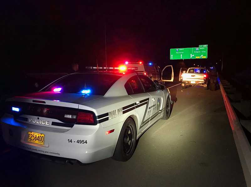 COURTESY PHOTO: WILSONVILLE POLICE - The stop took place on I-5 just north of Elligsen Road.