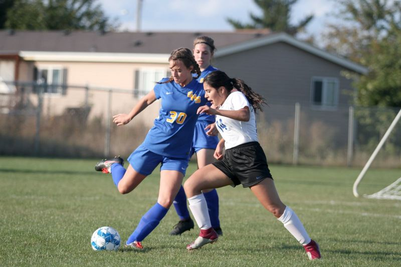 PMG PHOTO: PHIL HAWKINS - The Gervais girls soccer program and other 'non-contact' sports volleyball and cross country must wait until Sept. 23 to begin their 2020 season.