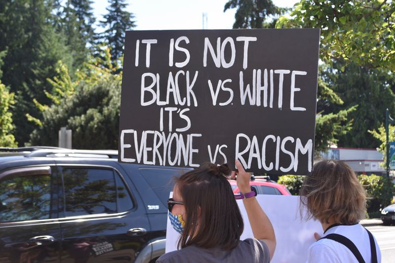 PMG PHOTO: BRITTANY ALLEN - Students and community members alike showed up to demonstrate a call for change and racial equity at the SAFE protest on July 25.