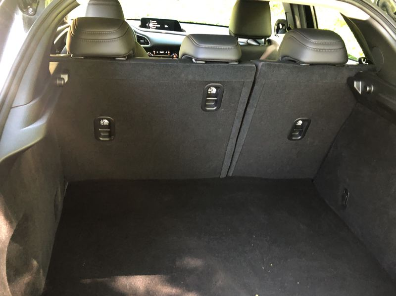 PMG PHOTO: JEFF ZURSCHMEIDE - There is plent of cargo space in the 2020 Mazda CX-30, and much more with the second row of seats folded down.