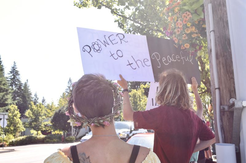 PMG PHOTO: BRITTANY ALLEN - People of all ages came to support the SAFE effort and protest peacefully on Saturday.