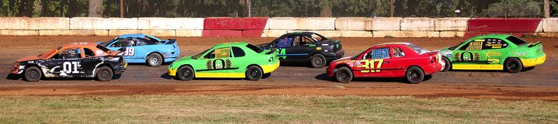 COURTESY PHOTO: ANN CARTER - It was wheel-to-wheel and door-to-door racing during the second annual Ray Potter Memorial at the River City Speedway in St. Helens on Saturday, May 25.