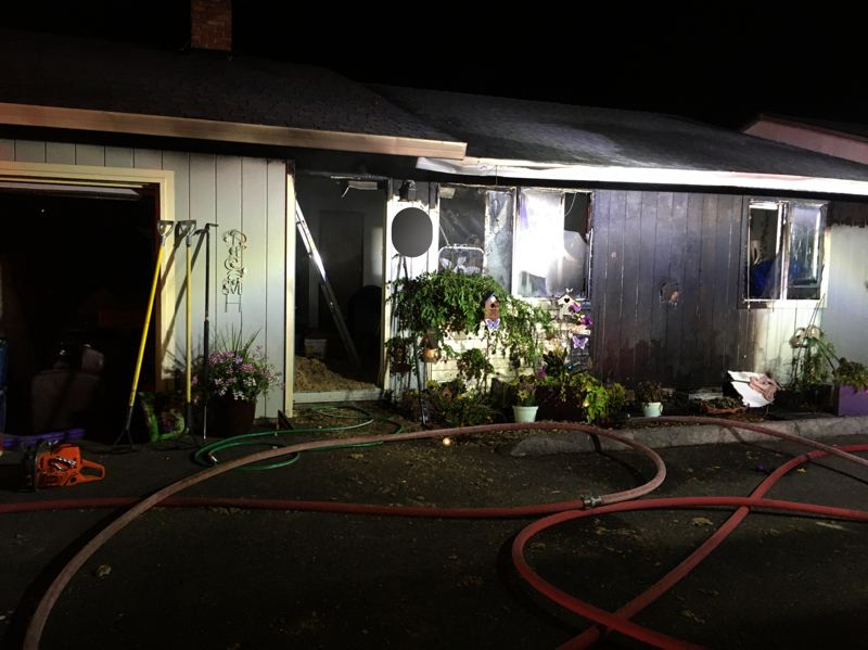 COURTESY PHOTO: HILLSBORO FIRE & RESCUE - A single detached apartment in Hillsboro shows fire damage Monday evening, July 27.