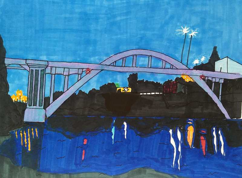 COURTESY PHOTO - Charlotte Lennon's 'Night Arch' won her $150 in cash and publication in the next issue of Oregon City's Trail News.