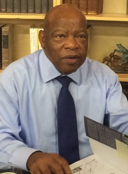 PMG PHOTO: PETER WONG - U.S. Rep. John Lewis at Powell's City of Books, June 27, 2015. Oregon's congressional delegation offers tributes to Lewis, who died July 17 at age 80.