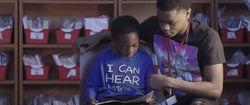 PHOTO COURTESY OF CHILDREN'S LITERACY PROJECT - A screenshot from a film made by the Children's Literacy Project for SOAR Detroit, a local literacy project based in Michigan.